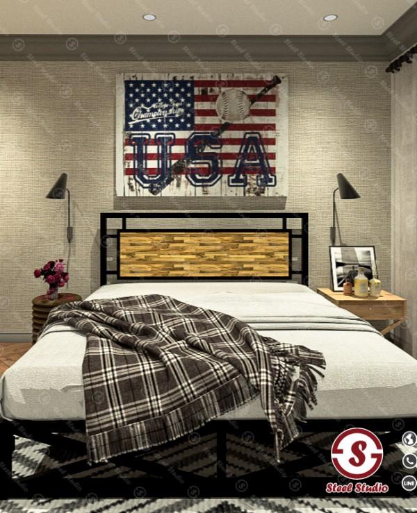 เตียงลอฟท์ หัวไม้